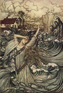 Undine. Illustration von Arthur Rackham
