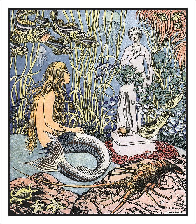 Illustration von Iwan Bilibin zu dem Märchen Die kleine Seejungfrau