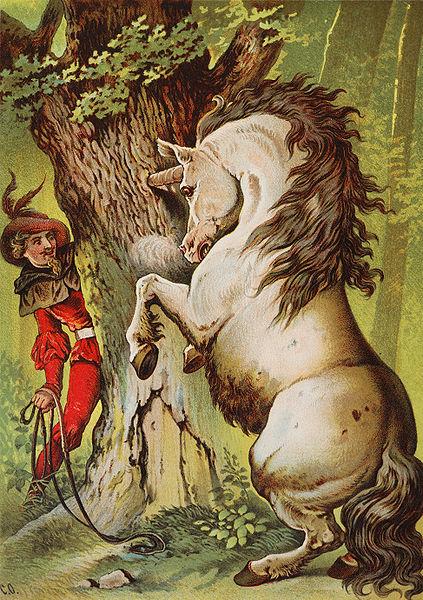 Illustration von Carl Offterdinger zu dem Märchen Das tapfere Schneiderlein