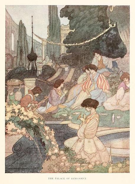 Illustration von Charles Robinson zu dem Märchen Der Glückliche Prinz von Oscar Wilde