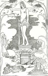 Der Glückliche Prinz, Märchen von Oscar Wilde, Illustration Heinrich Vogeler