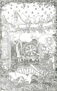 Die bedeutsame Rakete. Märchen von Oscar Wilde. Illustration Heinrich Vogeler