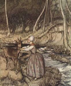 Brüderchen und Schwesterchen, Märchenbilder von Arthur Rackham