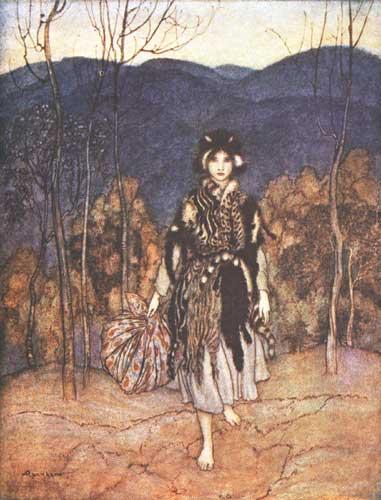 Illustration von Arthur Rackham zu dem Märchen Allerleirauh
