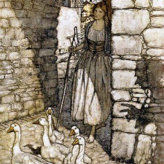 Die Gänsemagd, Illustration Arthur Rackham