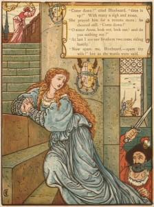 Ritter Blaubart, Märchen von Charles Perrault, Märchenbilder von Walter Crane