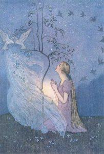 Aschenputtel (Cinderella), Märchenbilder von Elenore Abbott