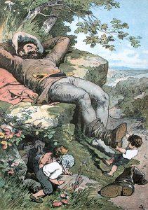 Der kleine Däumling, Märchen von Charles Perrault, Märchenbilder von Alexander Zick