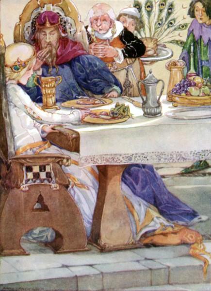 Froschkönig oder der eiserne Heinrich, Illustration Anne Anderson