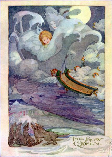 Die Schneekönigin, Märchen von Hans Christian Andersen. Märchenbilder von Anne Anderson