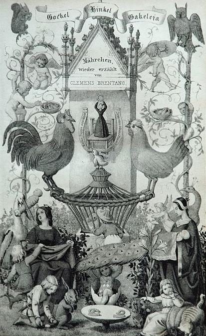 Märchen wieder erzählt von Clemens Brentano: Gockel, Hinkel und Gackeleia, Titelblatt