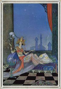 Geschichten aus Tausendundeiner Nacht. Illustration von Virginia Frances Sterrett