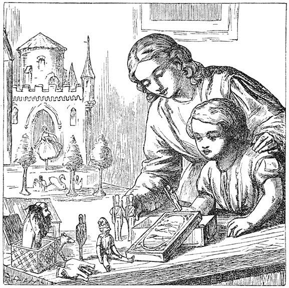 Illustration von Alfred Walter Bayes zu dem Märchen Der standhafte Zinnsoldat