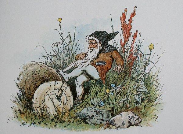 Illustration von Alexander Zick zu dem Märchen Schneeweißchen und Rosenrot