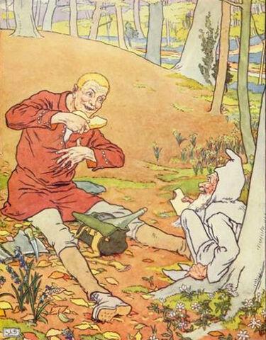 Illustration von L. Leslie Brooke zum Märchen Die goldene Gans