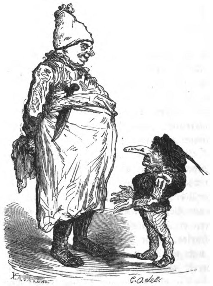Illustration von Carl Offterdinger zu dem Märchen Zwerg Nase von Wilhelm Hauff