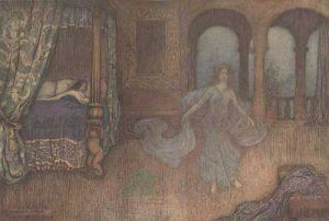 Der Heidelberzweig, Märchen von Giambattista Basile. Illustration von Warwick Goble