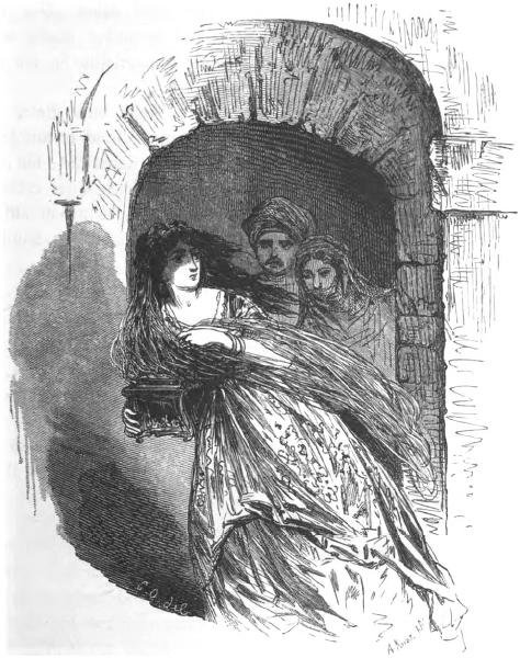 Die Errettung Fatmes, Märchen von Wilhelm Hauff. Illustration Bertall