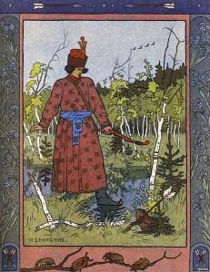 Die Froschprinzessin (Zarewna Unke). Märchenbilder von Iwan Bilibin