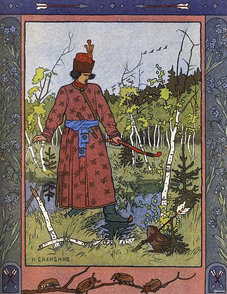 Illustration von Iwan Bilibin zu dem Märchen Die Froschprinzessin
