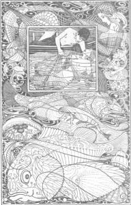 Der Fischer und seine Seele, Märchen von Oscar Wilde, Illustration Heinrich Vogeler