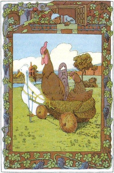 Das Lumpengesindel ist ein Schwank der Brüder Grimm. Illustration von Heinrich Vogeler