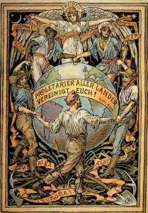 Walter Crane, Plakat: Proletarier aller Länder vereinigt Euch