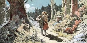 Hänsel und Gretel, Märchen der Brüder Grimm. Illustration Alexander Zick