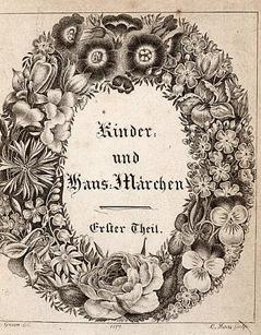 Kinder- und Hausmärchen der Brüder Grimm. Titelblatt der Erstausgabe