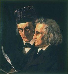 Wilhelm und Jacob Grimm, Porträt von Elisabeth Jerichau-Baumann