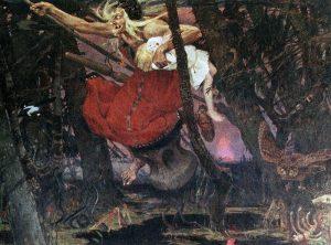 Baba Jaga, Hexe in russischen Märchen