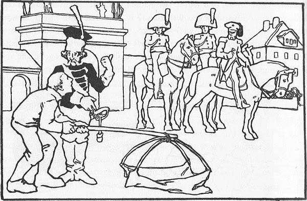 Illustration von Otto Ubbelohde zu dem Märchen Die kluge Bauerntochter