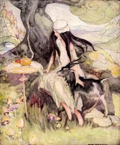 Einäuglein, Zweiäuglein, Dreiäuglein, Märchenbilder von Anne Anderson