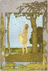 Die Sterntaler. Märchen der Brüder Grimm, Illustration von Heinrich Vogeler