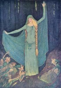 Die beiden Königskinder, Brüder Grimm. Märchenbilder von Elenore Abbott