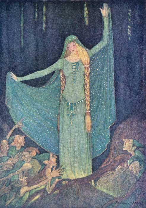 Illustration von Elenore Abbott zum Märchen Die beiden Königskinder von den Brüdern Grimm