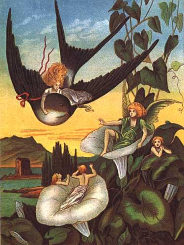 Illustration von  Eleanor Vere Boyle zu dem Märchen Däumelinchen von Hans Christian Andersen