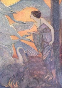 Die wilden Schwäne. Illustration Elenore Abbott