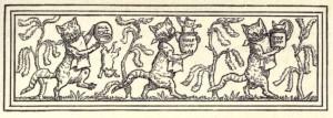 Katze und Maus in Gesellschaft, Brüder Grimm. Illustration Walter Crane