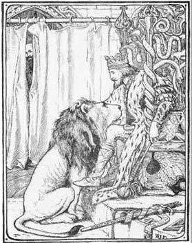 Illustration von Henry J. Ford zu dem Märchen Die zwölf Jäger von den Brüdern Grimm