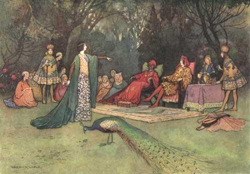 Illustration von Warwick Goble zum Pentameron von Giambattista Basile