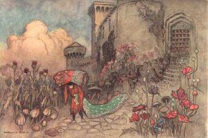 Corvetto, Märchen von Giambattista Basile, Illustration Warwick Goble