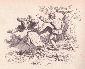 Zweite Legende von Rübezahl, Illustration Ludwig Richter