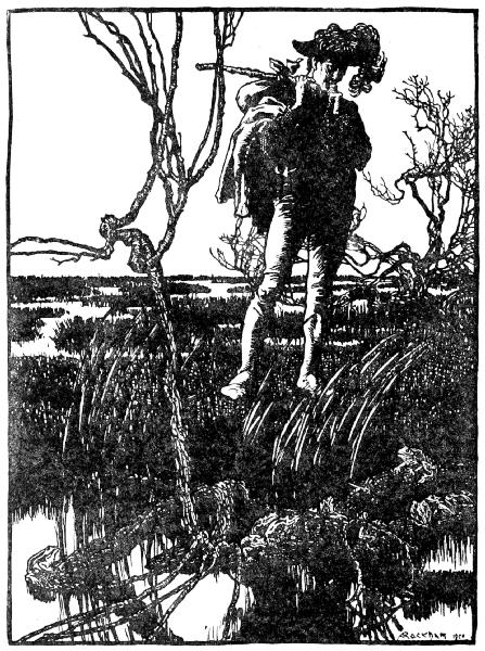Illustration von Arthur Rackham zu dem Märchen Die drei Sprachen von dern Brüdern Grimm