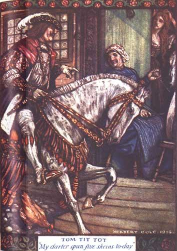 Illustration von Herbert Cole zu dem Märchen Ricdin-Ricdon