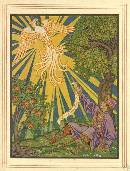 Feuervogel und Iwan Zarewitsch. Märchenbilder von Iwan Bilibin