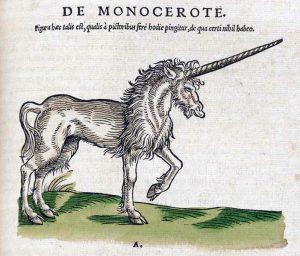 De Monocerote. Einhorn, aus Historiea animalum, Conrad Gesner, 1551