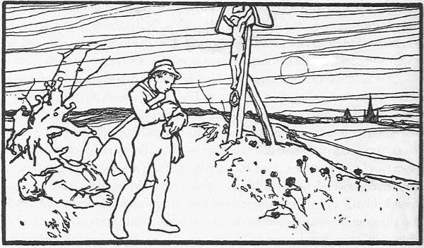 Illustration Otto Ubbelohde zu dem Märchen Die klare Sonne bringts an den Tag