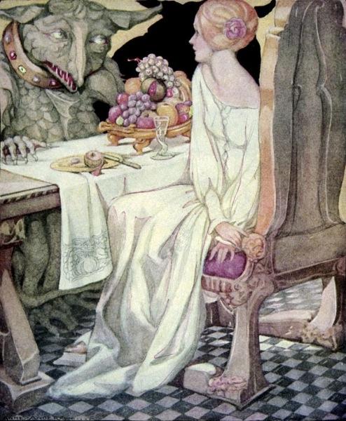 Die Schöne und das Biest, Illustration Anne Anderson