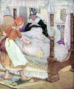 Frau Holle, Märchen der Brüder Grimm. Märchenbilder von Anne Anderson